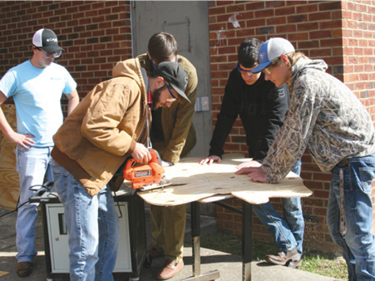 Sycamore High School's technical education class, which