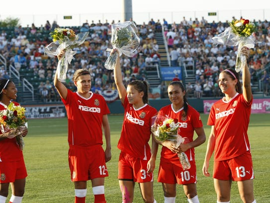 WNY Flash players who were in the 2011 World Cup, from