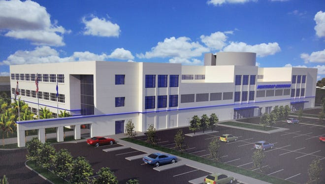 A rendering of the Northrop Grumman Manned Aircraft Design Center of Excellence.