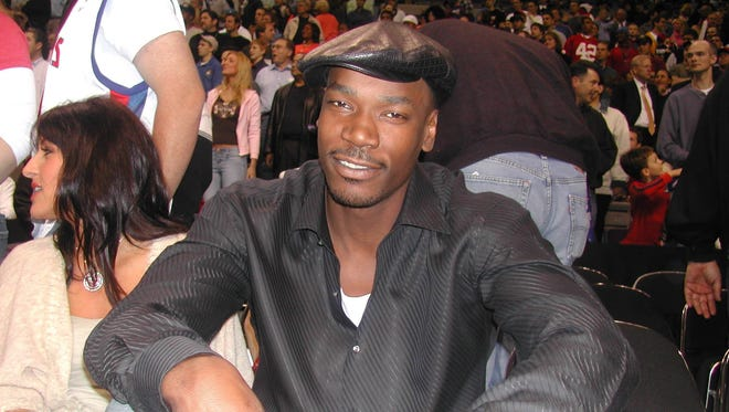 Former Pistons center Cliff Robinson visits the Palace for Game 1 of the Eastern Conference semifinals vs. the New Jersey Nets on May 4, 2004.