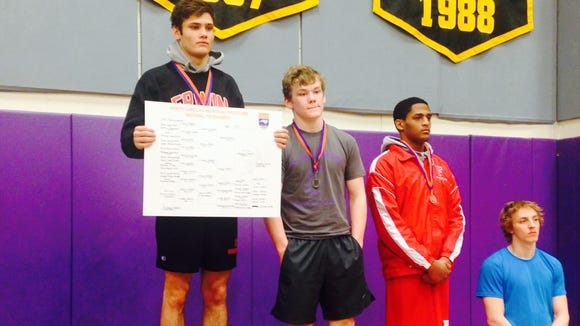 Erwin's Conan Wilson won his weight class on Saturday