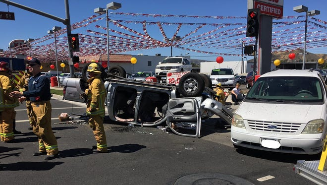 Ventura County firefighters responded to a crash on First Street in Simi Valley Monday morning at about 10:30 a.m.