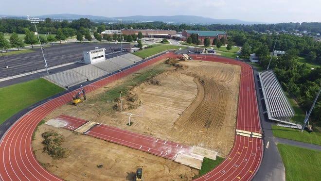 Construction of South Western's new turf football field broke ground on July 6.