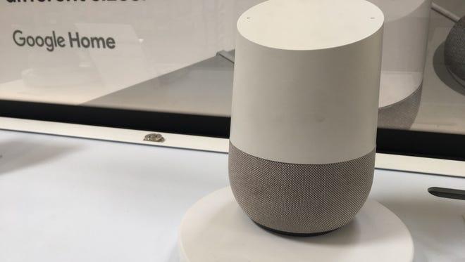 Google Home as shown at Walmart.