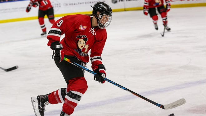 Rebecca Morse is in her second season with the Metropolitan Riveters, who have steamrolled through the NWHL competition and clinched home-ice advantage in the postseason.