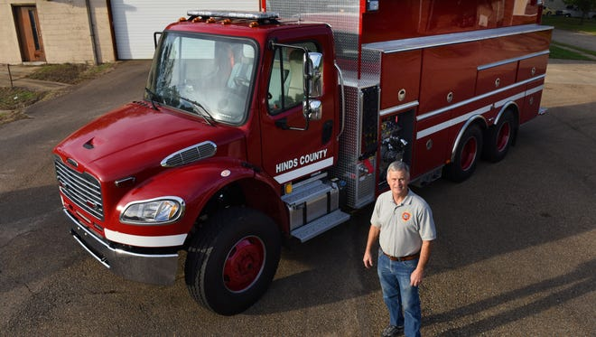Chief Sammy White says the Utica Volunteer Fire Department's new 3,000-gallon pumper-tanker will not only improve the department's firefighting capability but should also lower insurance rates for area property owners. Utica is one of five volunteer departments in Hinds County to get a new truck.