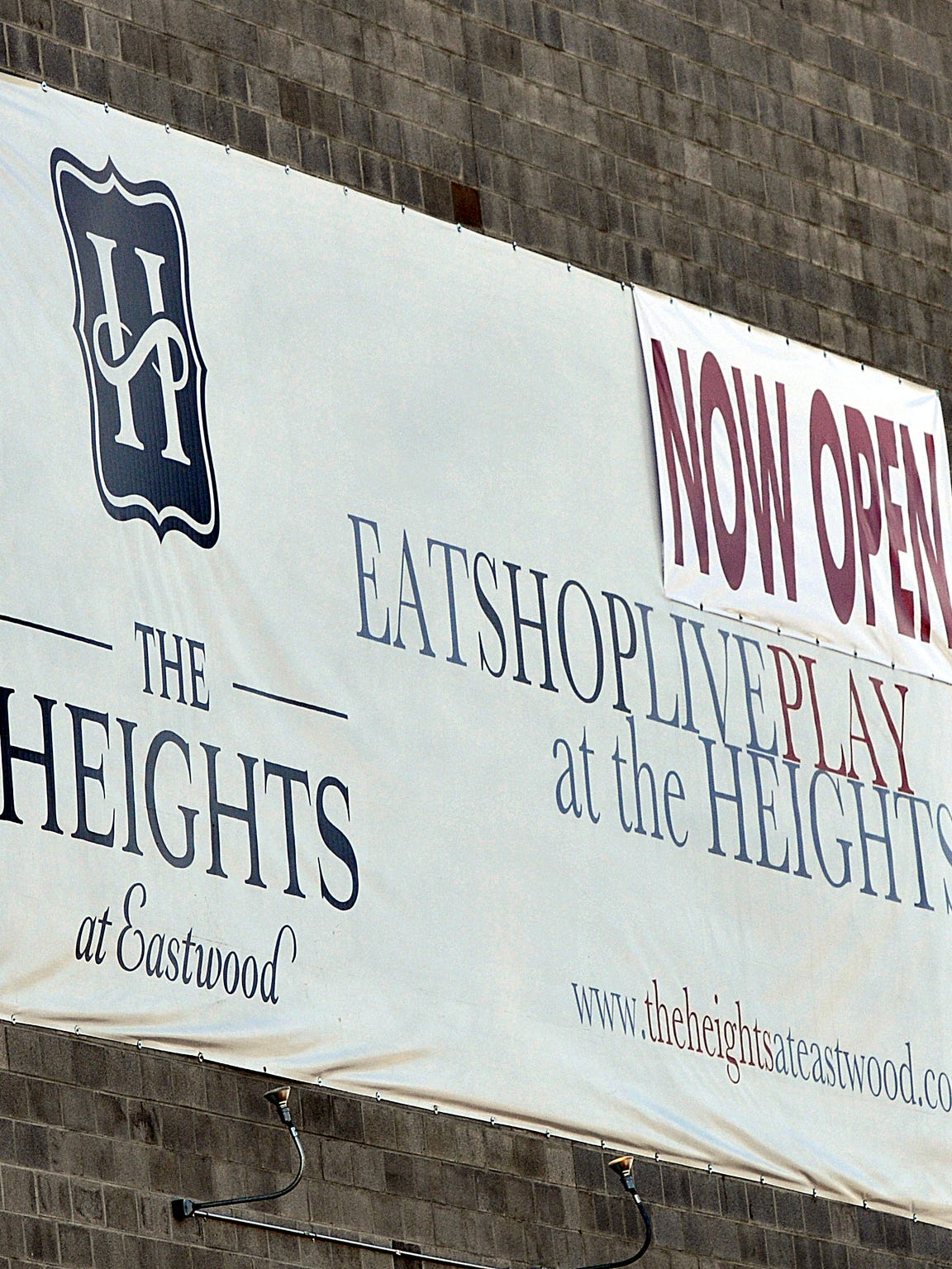 A sign for The Heights of Eastwood is shown on Dec.
