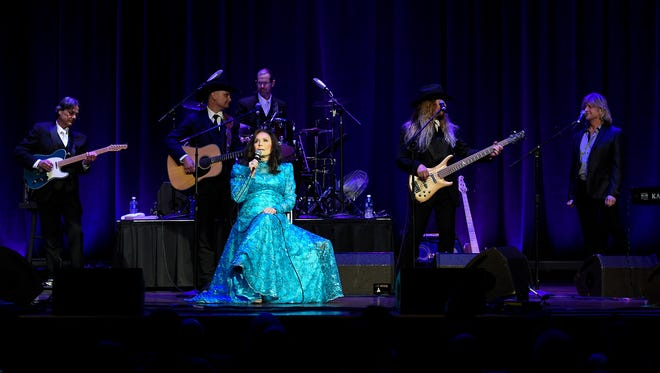 Loretta Lynn performs at the Ryman Auditorium on Friday, April 14, 2017, in Nashville.