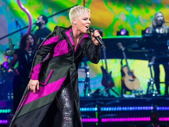 Pink will perform April 30 at Bankers Life Fieldhouse.