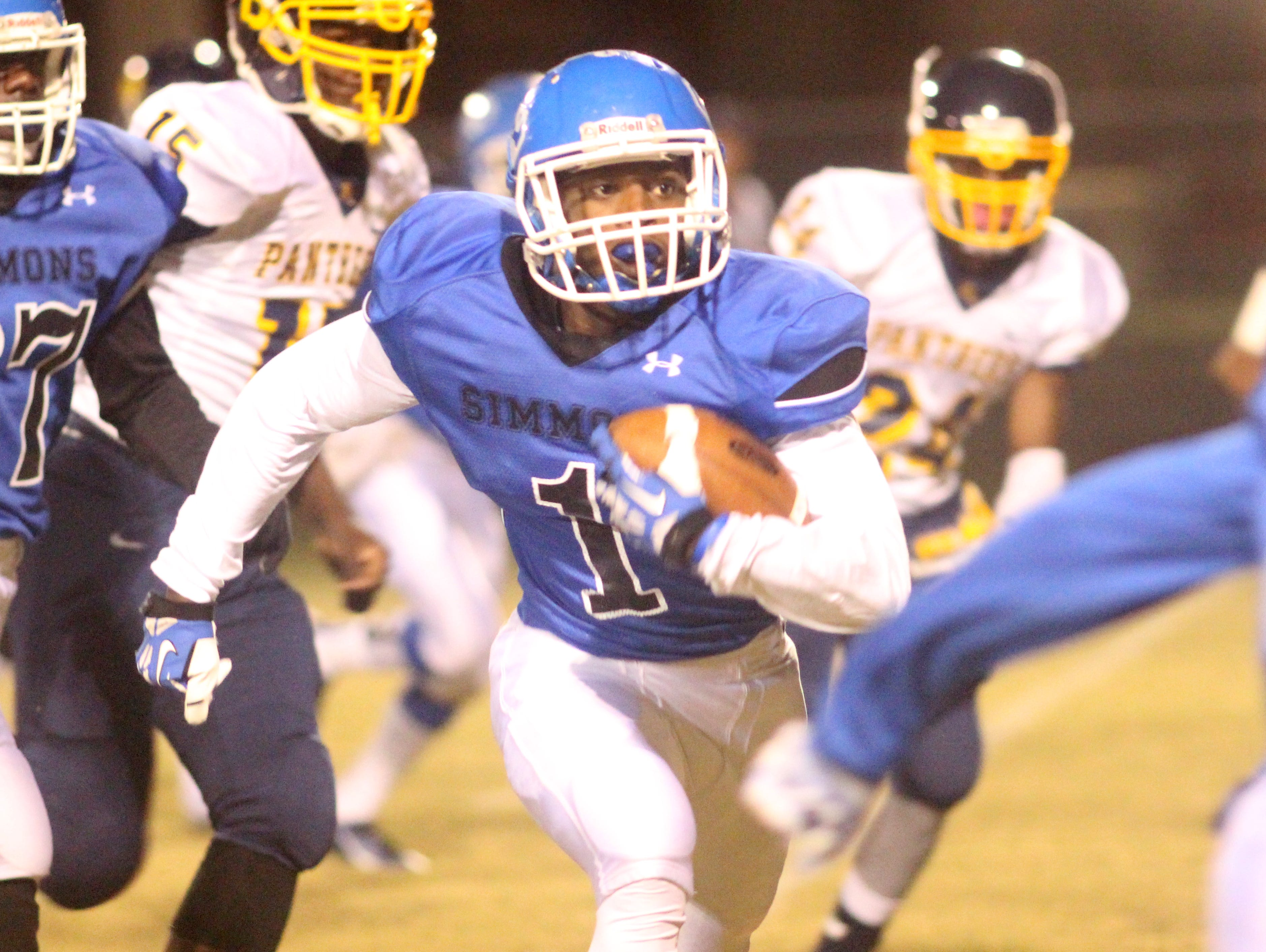Nero Nelson has accounted for 32 touchdowns this season as he leads the Simmons Blue Devils into the Class 1A championship against the Resurrection Eagles on Friday.