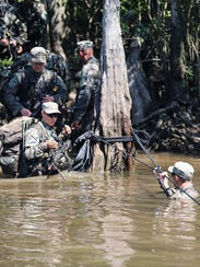 U.S. Army soldiers participate in waterborne operations