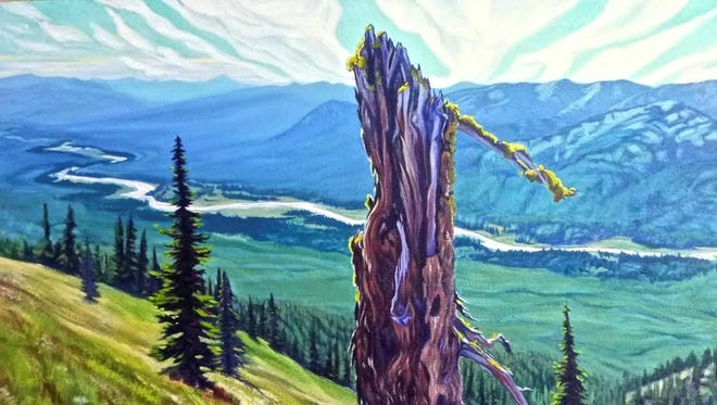"""""""Flathead Valley"""" by Laura Nelson shows one of the beautiful scenes captured in the Flathead Wild art exhibit."""