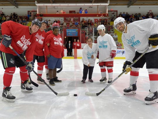 The exhibition hockey game raised money for Franziska