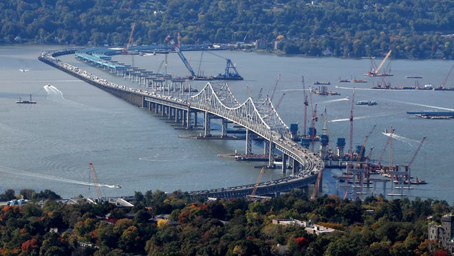 Work continues for the replacement for the Tappan Zee Bridge on Oct. 16.