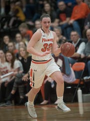 Palmyra's Olivia Richardson scored a game-high 19 points in the Cougars' 45-43 loss to Lower Dauphin on Friday.