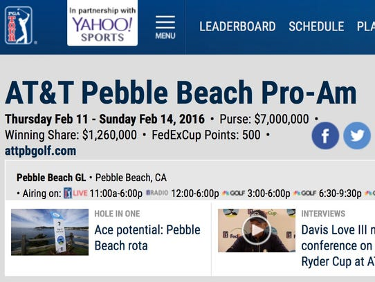 The PGA Tour-Yahoo Sports co-branded leaderboard on