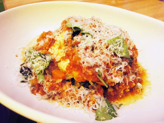 Lasagna Bolognese, a gluten-free dish made with house-made