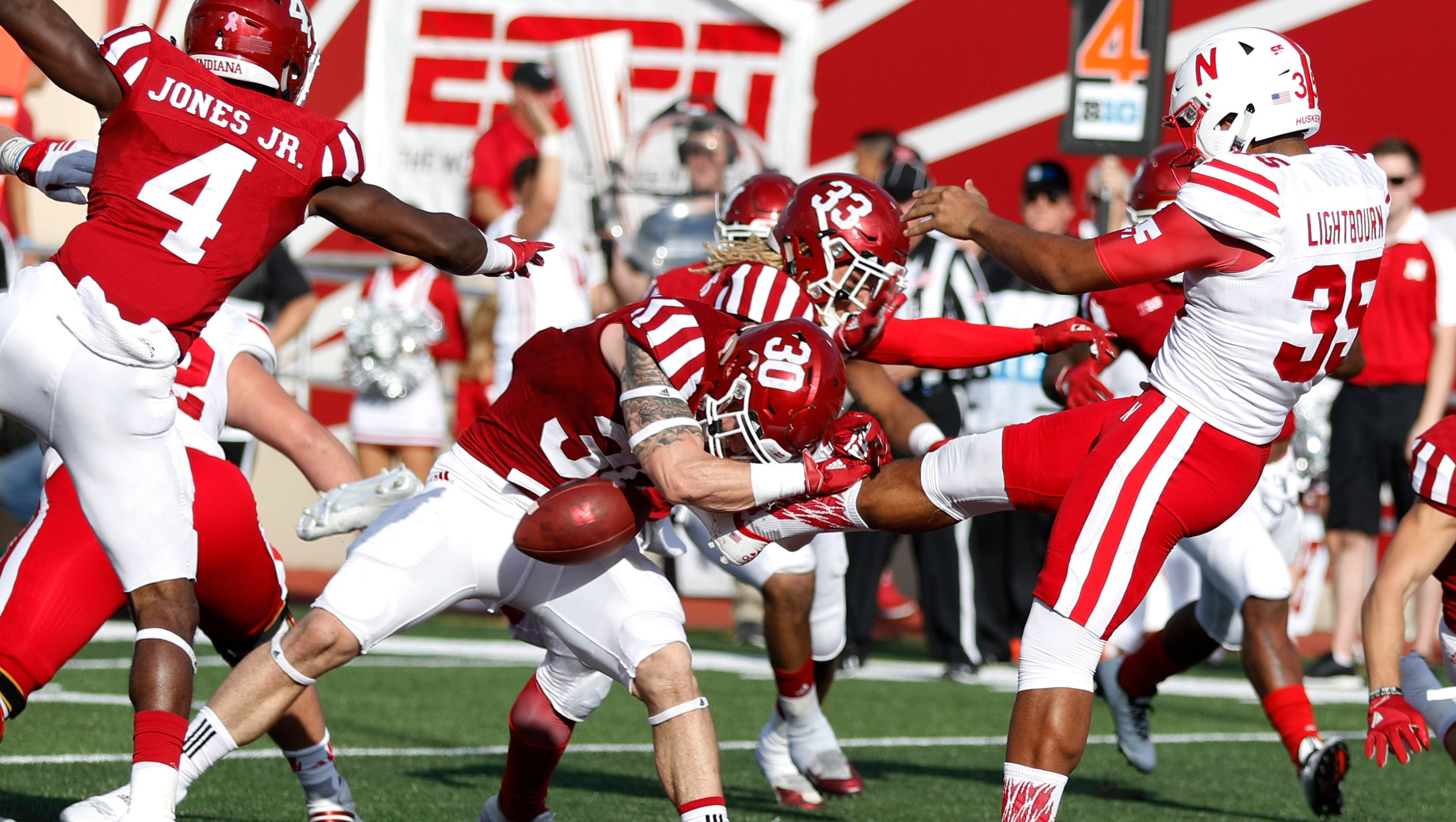 No 10 Nebraska Hangs On For Victory At Indiana