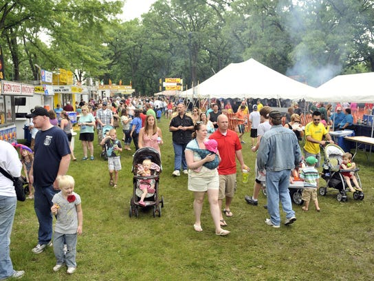 The Rapids River Food Fest brings thousands annually.