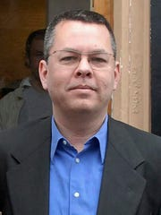 Andrew Brunson, an American pastor, stands in Izmir, Turkey, in this file photo. Brunson has been charged in Turkey with engaging in espionage and having links to terror groups, crimes that carry a potential sentence of up to 35 years in prison.
