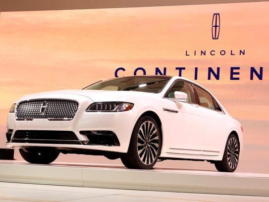 The 2017 Lincoln Continental is revealed during the