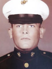 A 1967 photo of Tom Scherg while he was in the Marines.
