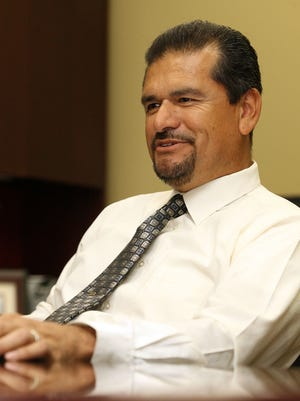 Indio City Manager Dan Martinez talks about his first year on the job on Thursday, July 22, 2011, during an interview in his Indio,