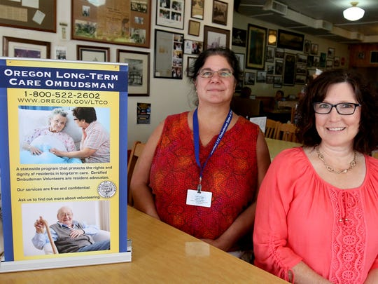 Steph Delage, left, and Lene Garrett are looking for volunteers with daytime availability to work for the state's Long-term Care Ombudsman's Office, and check on folks' concerns at long-term care facilities.