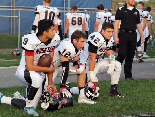 Muskego High School varsity football players (from