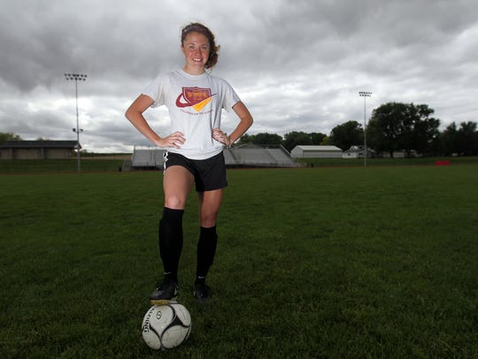 Union's Courtney Powell poses for a photo at school