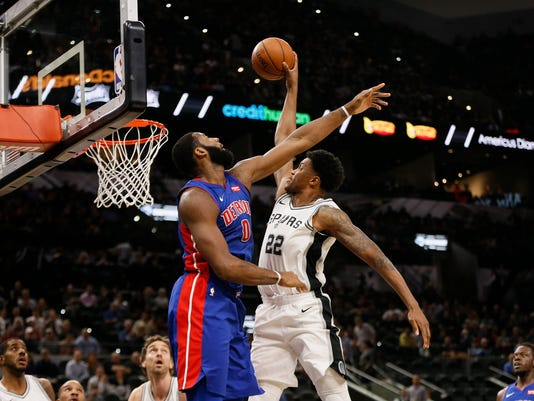 NBA: Detroit Pistons at San Antonio Spurs
