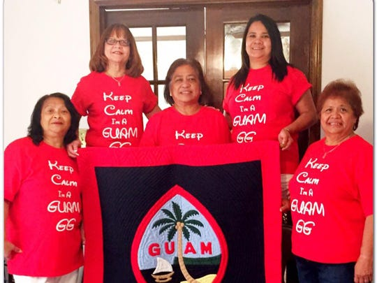 "Richard Patricia Fetzer shared this photo of ""The Guam GG's"" of North Carolina wishing Guam a Happy 71st Liberation Day."