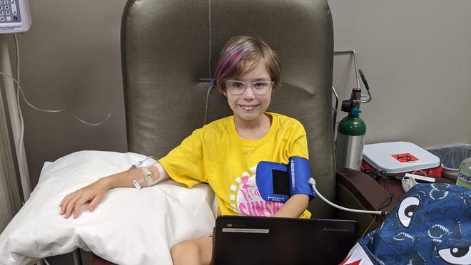 Bridget Flavin, 9, Halstead, and her family spent about a year seeking a diagnosis for her bone pain, skin lesions and health problems. She was diagnosed with SAPHO, a syndrome labeled as rare by the NIH.