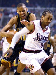 This photo's from Game 1 of the 2001 Eastern Conference