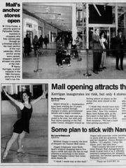 A photo of Nancy Kerrigan performing in the Palisades Center's ice rink appeared in the March 5, 1998, edition of The Journal News.