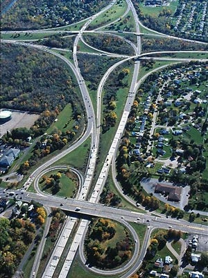 The New York state Department of Transportation provided this photo of the interchange of Interstate 490, Interstate 390, Route 390 and Lyell Avenue. A project is in the works to fix traffic issues throughout this project area.
