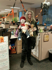 Kathy Colfer Hinkle says it's Take Your Kids To Work Day.
