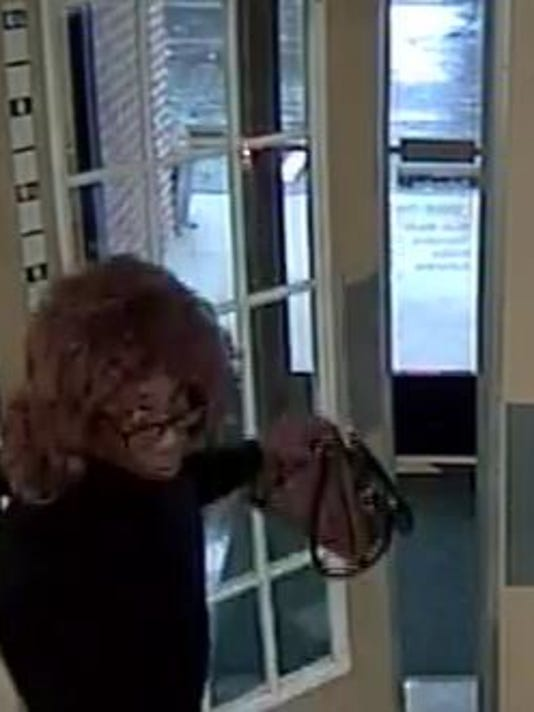 Police said a man dressed as a woman robbed the Northwest Savings Bank on South Queen Street in York Township on Wednesday, Oct. 28, 2015.