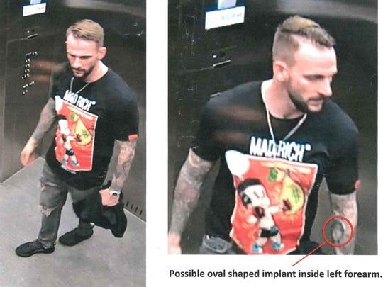 "Suspect in Scottsdale Galleria ""donkey kick"" vandalism."