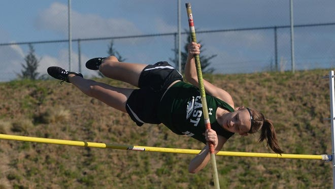 East Henderson's Pearl Ballard competes in a past meet at North Henderson High School.
