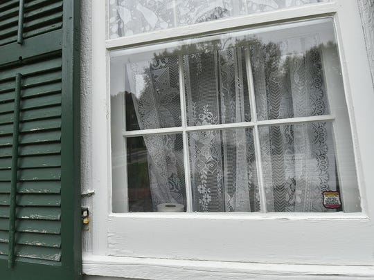 Ghostly images most often appear at night in the  windows of the Alexander Noble House.