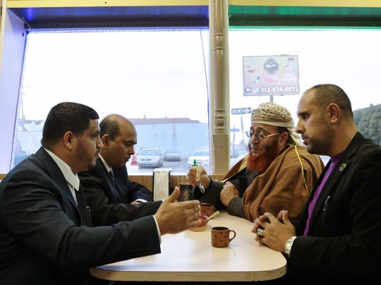 From left, city councilman Saad Almasmari, 28, of Hamtramck,