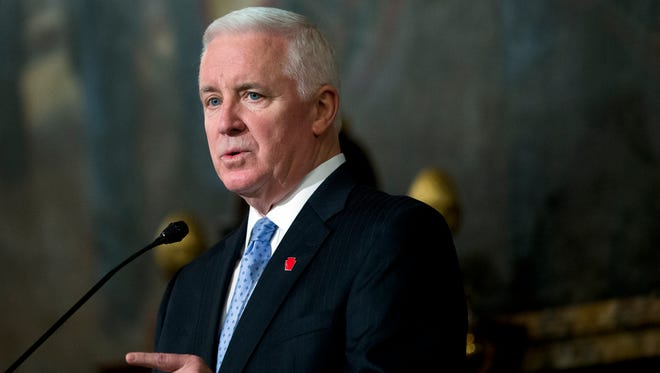 Former Pennsylvania Gov. Tom Corbett, who left office in January, noted on his ethics form that nearly $7,000 in airfare and other travel costs and about $400 in gifts from a March trip to Italy were related to this year's visit by Pope Francis and to economic development efforts.