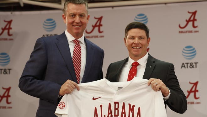 Alabama athletic director Greg Byrne says he's convinced Brad Bohannon has all the qualities to do a good job with the Crimson Tide.