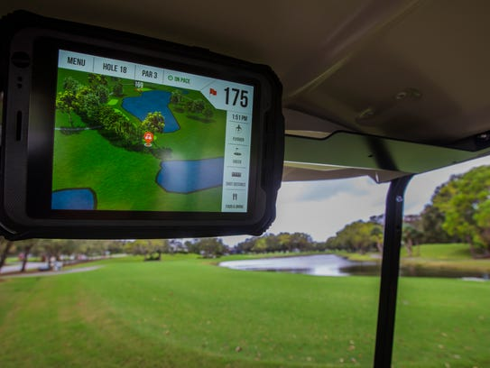 Coral Oaks Golf Course now offers GPS screens on their
