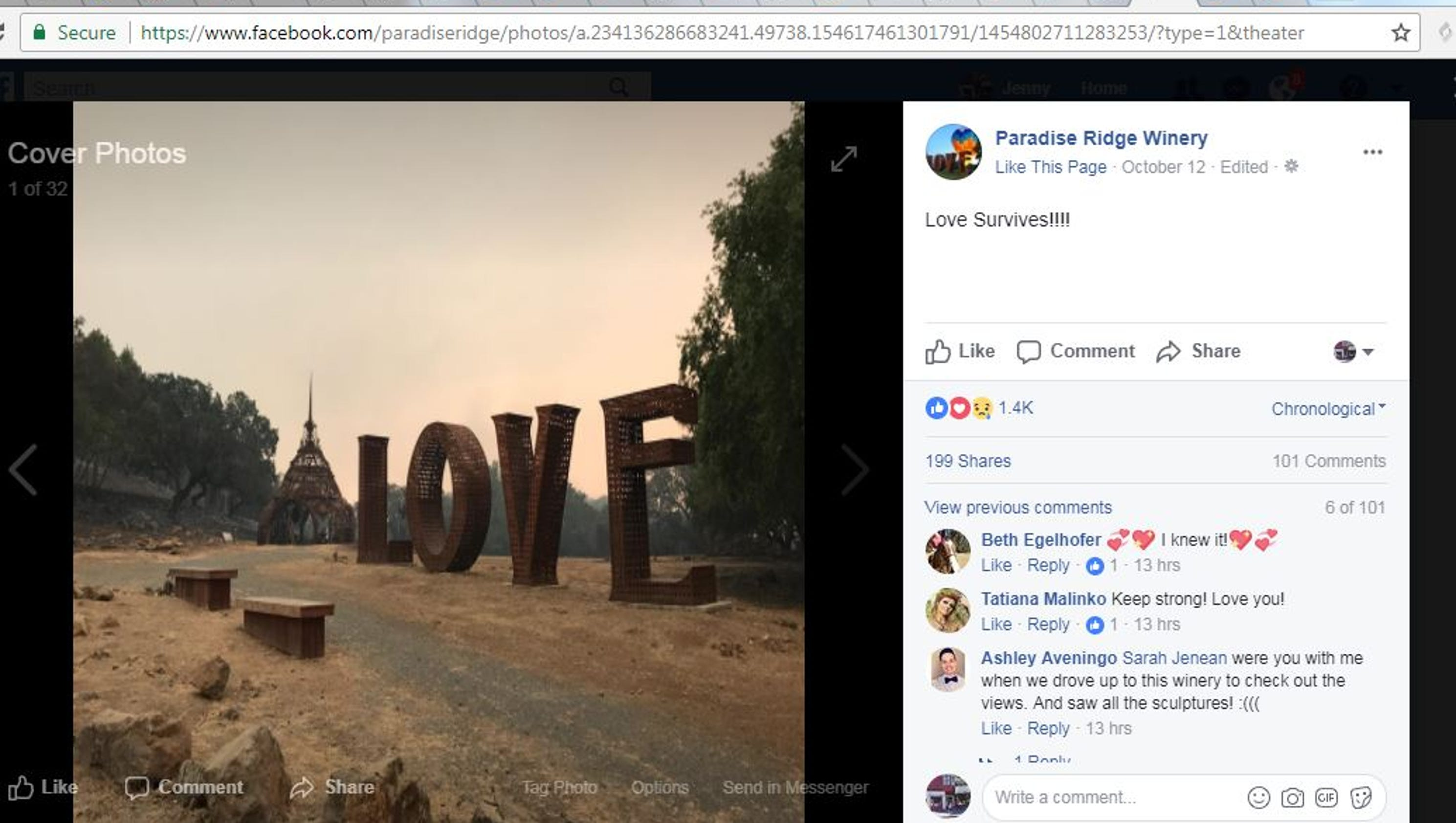 California fires love sculpture from burning man a symbol of hope biocorpaavc Image collections