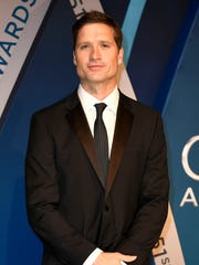 Walker Hayes on the red carpet at Music City Center before the start of the 51st annual CMA Awards Wednesday, Nov. 8, 2017 in Nashville, Tenn.