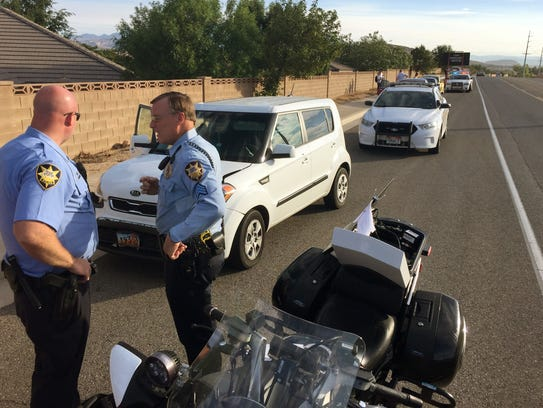 St. George Police Department officers investigate the