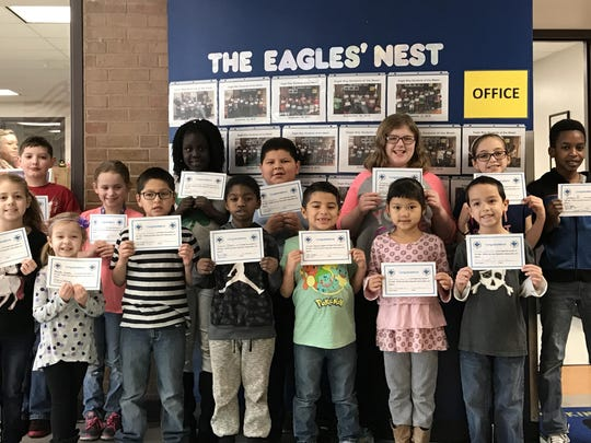 These McKinley Elementary students were recently named Eagle Way students of the week for consistently demonstrating respectful, responsible and safe behavior during their arts classes.