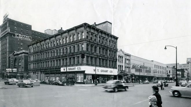This undated photo shows the Scott Building at State and 10th streets in downtown Erie.
